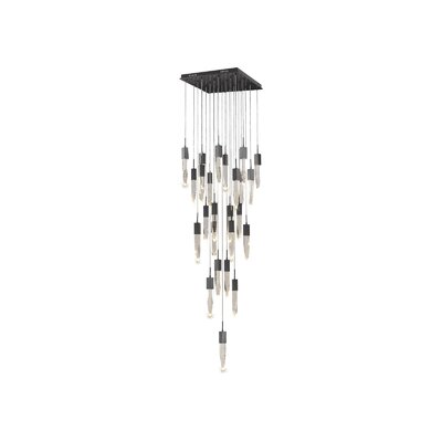 Aspen 25-Light LED Cascade Pendant Finish: Dark Bronze