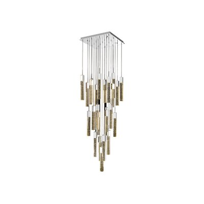Glacier Avenue 25-Light LED Cascade Pendant Finish: Chrome