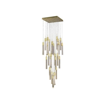 Glacier Avenue 25-Light Cascade Pendant Finish: Brushed Brass