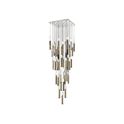 Glacier Avenue 41 Light LED Cascade Pendant Color: Chrome