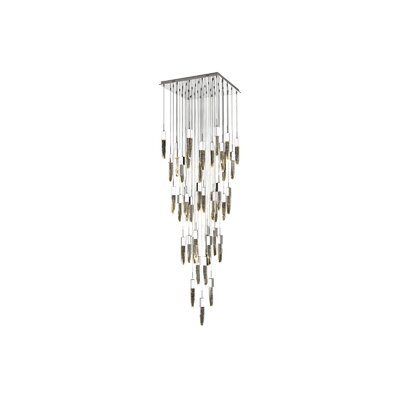 Kohlmeier 41 Light LED Cascade Pendant Finish: Chrome
