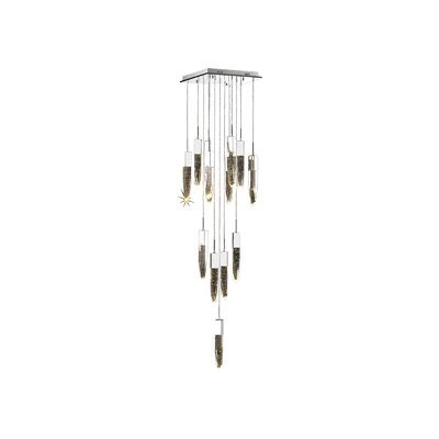 Kohlmeier 13-Light Cascade Pendant Finish: Chrome