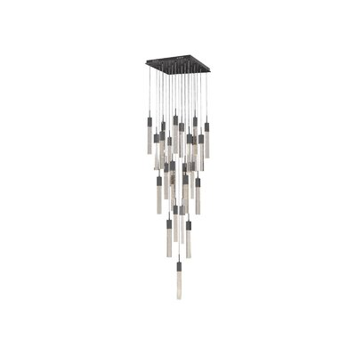 Glacier Avenue 25-Light Cascade Pendant Finish: Dark Bronze
