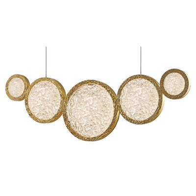 Holmberg LED Cascade Pendant Finish: Polished Brass