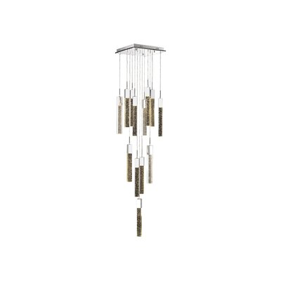 Glacier Avenue 13-Light LED Cascade Pendant Finish: Chrome