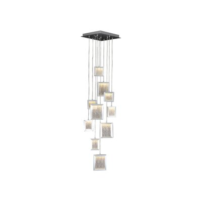 Brentwood 10-Light Cascade Pendant Color: Brushed Aluminum
