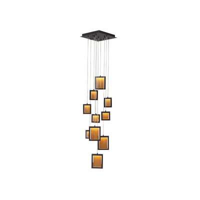 Brentwood 10-Light Cascade Pendant Color: Dark Bronze