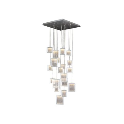 Brentwood 19-Light Cascade Pendant Color: Brushed Aluminum