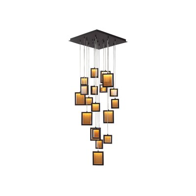 Brentwood 19-Light Cascade Pendant Finish: Dark Bronze