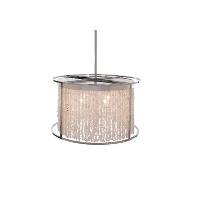 Soho 4-Light Drum Pendant Finish: Polished Nickel