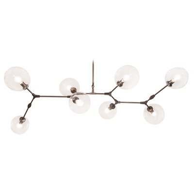 Grier 8-Light Cascade Pendant Finish: Dark Bronze