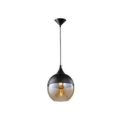 Robertson Blvd. 1-Light Mini Pendant Color: Black/Bronze