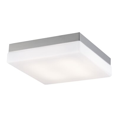 Cermack St. LED Flush Mount Color: Brushed Nickel
