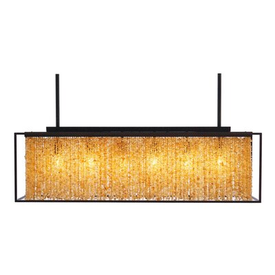 Soho 6-Light Kitchen Island Pendant Finish: Dark Bronze