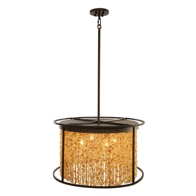 Soho 4-Light Drum Pendant Finish: Dark Bronze