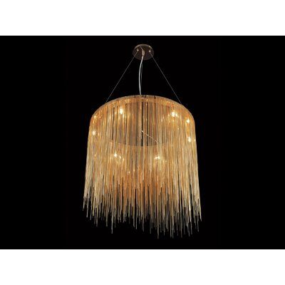 Ahart 8-Light Waterfall Chandelier Finish: Gold