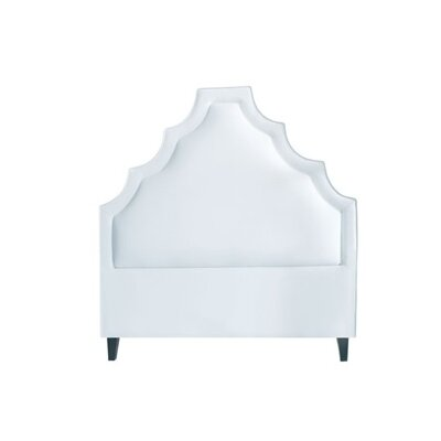 Lexi Upholstered Panel Headboard Size: California King, Upholstery: White