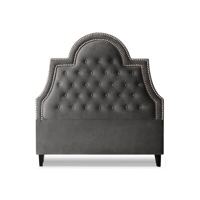 Amanda Upholstered Panel Headboard Size: Queen, Upholstery: Slate