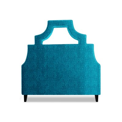 Natalie Upholstered Panel Headboard Size: Queen, Upholstery: Peacock Blue