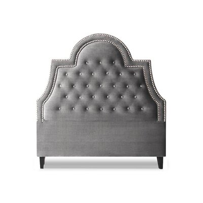 Amanda Upholstered Panel Headboard Size: Queen, Upholstery: Sterling