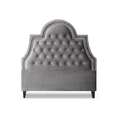 Amanda Upholstered Panel Headboard Size: King, Upholstery: Sterling
