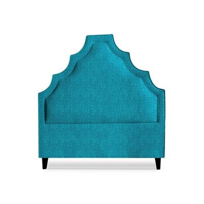 Lexi Upholstered Panel Headboard Size: King, Upholstery: Peacock Blue
