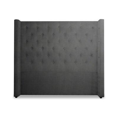 Bren Upholstered Wingback Headboard Size: Full, Upholstery: Slate