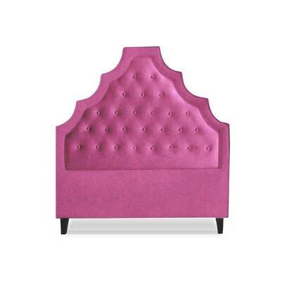Lexi Upholstered Panel Headboard Size: Full, Upholstery: Rose
