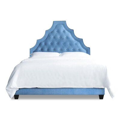 Lexi Upholstered Platform Bed Size: California King, Upholstery: Sky Blue