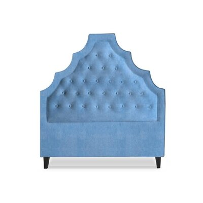 Lexi Upholstered Panel Headboard Size: Queen, Upholstery: Sky Blue