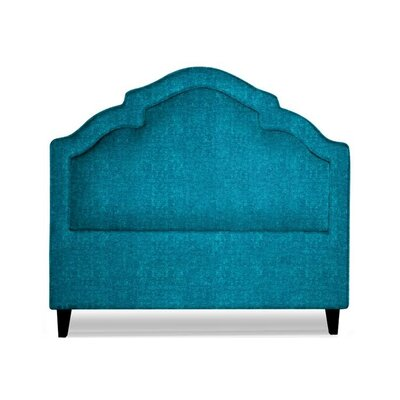 Sheila Upholstered Panel Headboard Size: Queen, Upholstery: Peacock Blue