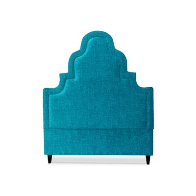 Meela Upholstered Panel Headboard Size: Queen, Upholstery: Peacock Blue