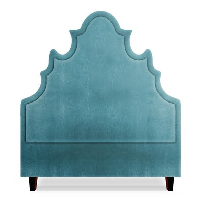 Sophie Upholstered Panel Headboard Size: King, Upholstery: Turquoise