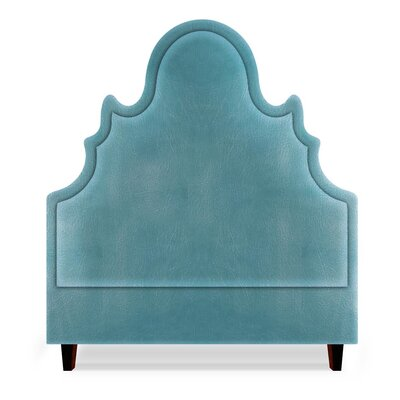 Amalie Upholstered Panel Headboard Size: California King, Upholstery: Turquoise