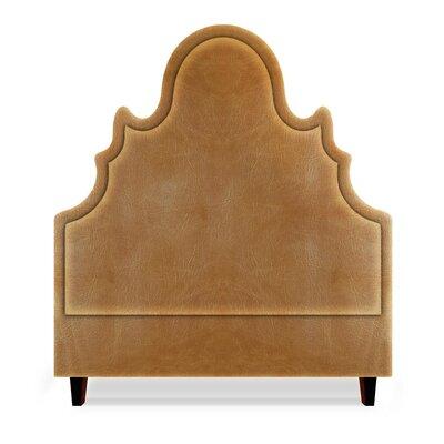 Amalie Upholstered Panel Headboard Size: Full, Upholstery: Cashew