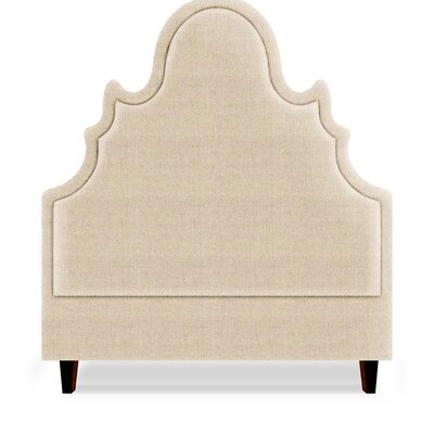 Amalie Upholstered Panel Headboard Size: Full, Upholstery: Flax