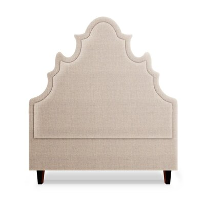 Sophie Upholstered Panel Headboard Size: Full, Upholstery: Flax