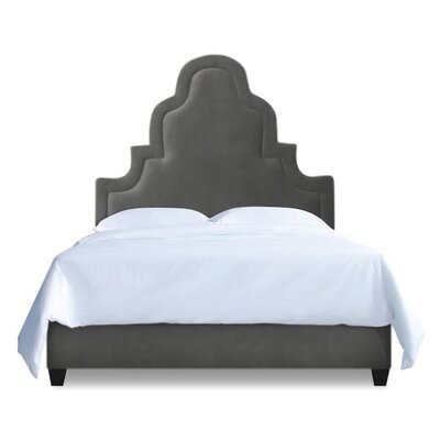 Meela Upholstered Platform Bed Size: Queen, Color: Slate