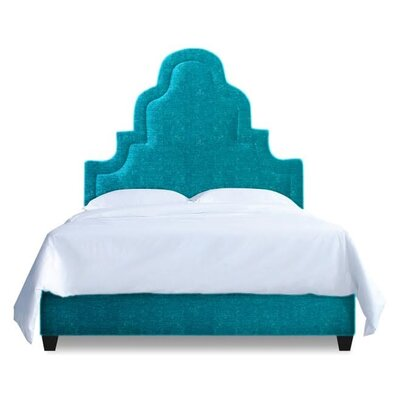 Meela Upholstered Platform Bed Upholstery: Peacock Blue, Size: California King