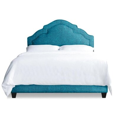 Sheila Upholstered Platform Bed Size: Queen, Color: Peacock Blue