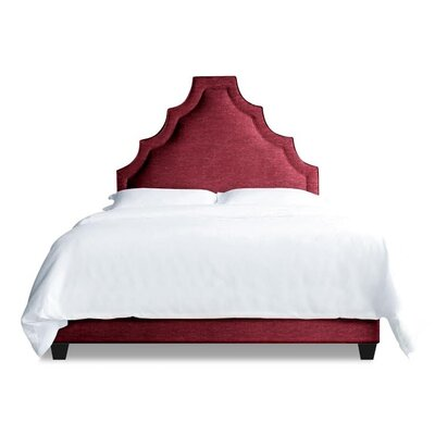 Lexi Upholstered Platform Bed Size: Full, Color: Fuchsia