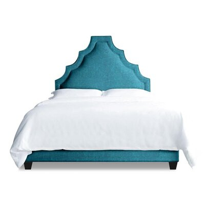 Lexi Upholstered Platform Bed Size: Queen, Color: Peacock Blue