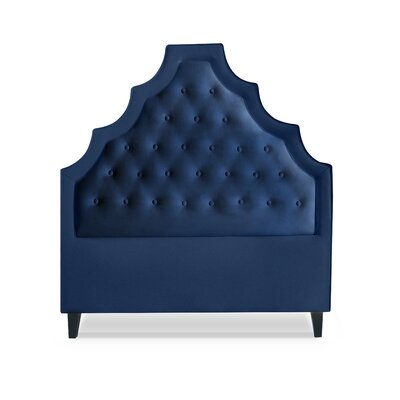Lexi Upholstered Panel Headboard Size: King, Upholstery: Navy