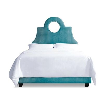 Tess Upholstered Platform Bed Size: King, Upholstery: Turquoise Leather