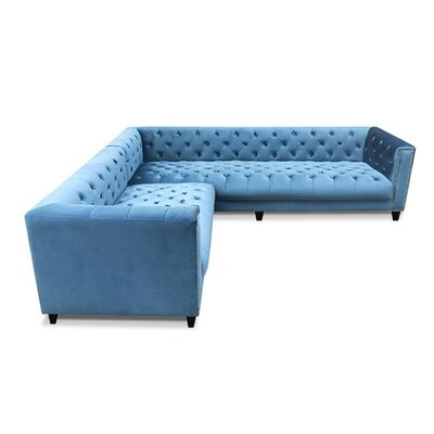 Kimmy Sectional Color: Blue Velvet