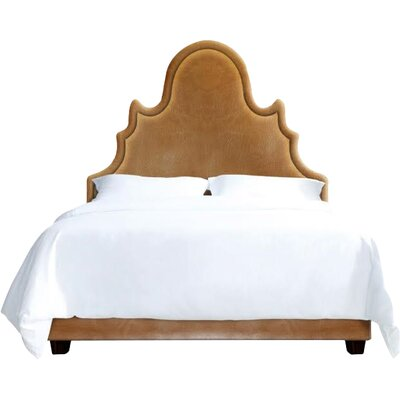 Amalie Upholstered Platform Bed Size: King, Color: Cashew
