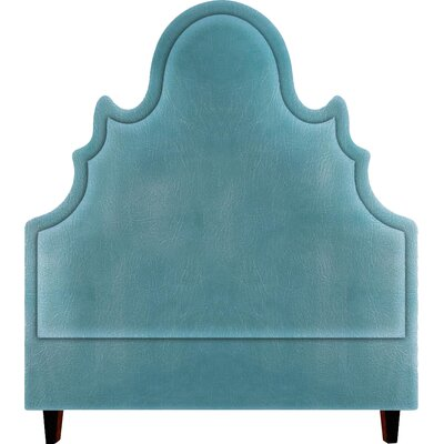 Amalie Upholstered Panel Headboard Size: Queen, Upholstery: Turquoise