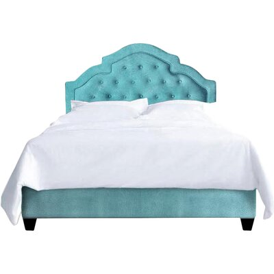 Sheila Upholstered Platform Bed Size: Queen, Color: Turquoise
