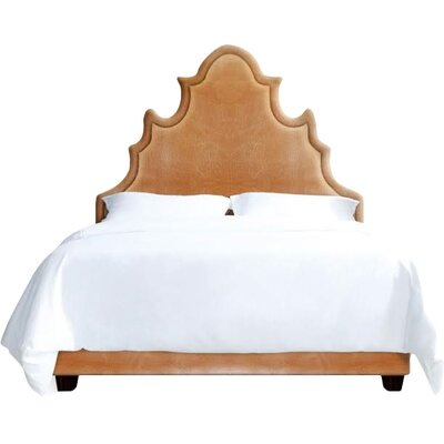 Sophie Upholstered Platform Bed Size: California King, Color: Cashew