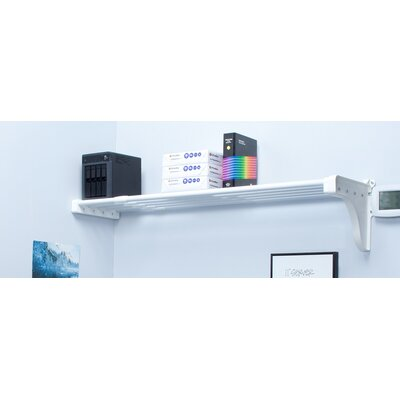 EZ SHELF from Tube Technology Expandable Shelf with 1 End Bracket Finish: Silver, Size: Small (28